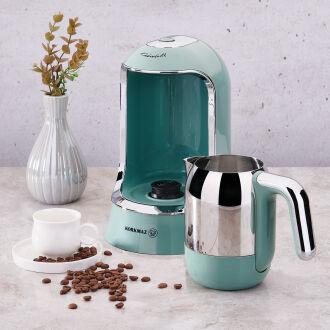 Korkmaz Kahvekolik Turkuaz Otomatik Kahve Makinesi - Thumbnail
