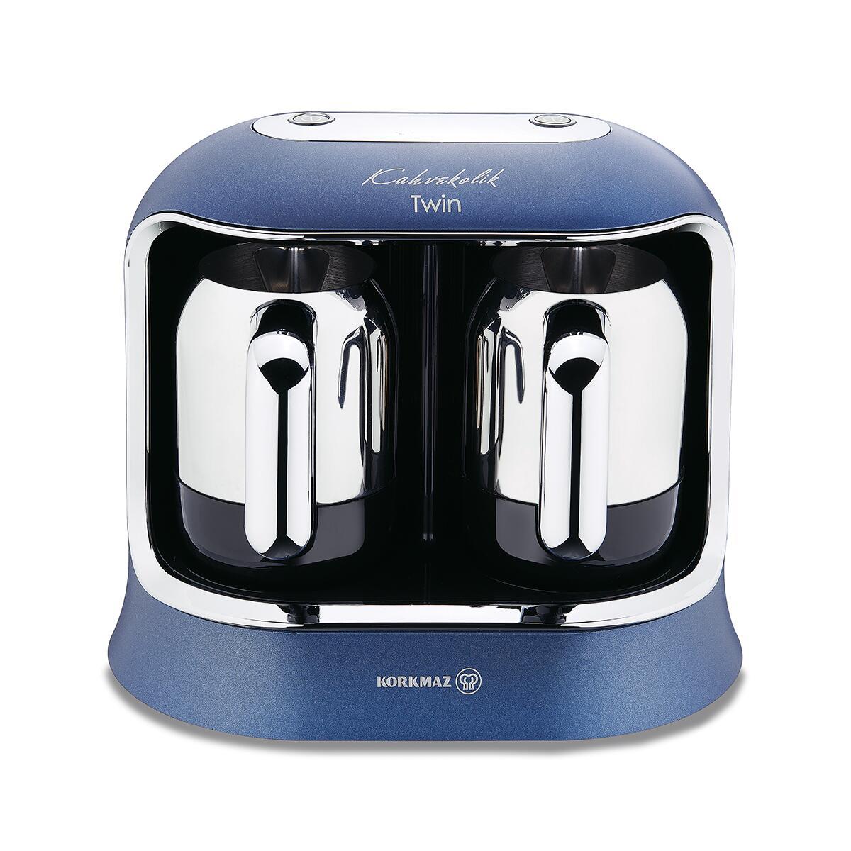 Korkmaz Kahvekolik Twin Azura/Krom Otomatik Kahve Makinesi