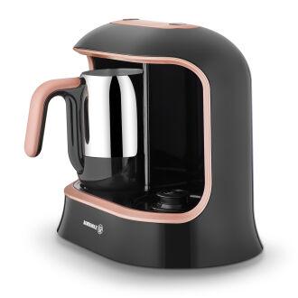 Korkmaz Kahvekolik Twin Siyah/Rosagold Otomatik Kahve Makinesi - Thumbnail