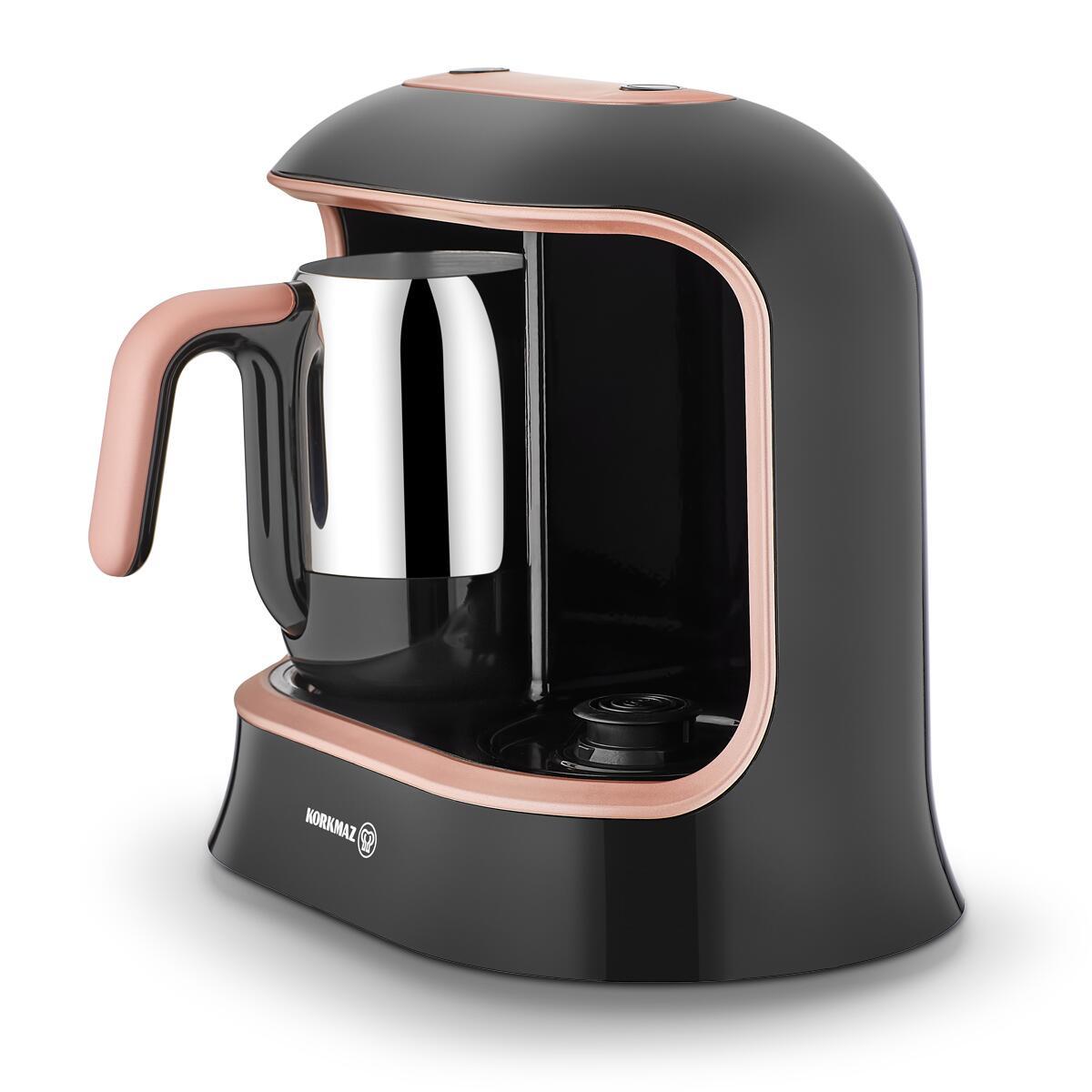 Korkmaz Kahvekolik Twin Siyah/Rosagold Otomatik Kahve Makinesi