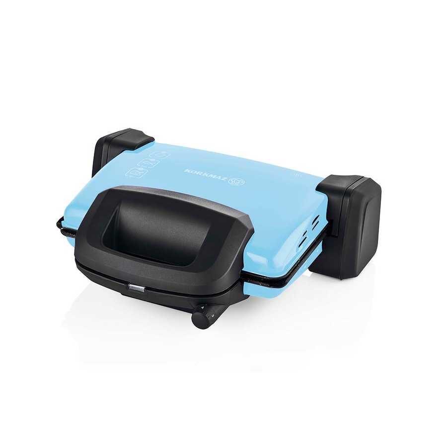 Korkmaz Kompakto Mavi/Siyah Small Tost Makinesi