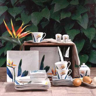 Korkmaz Link Collection 28 Parça Kare Kahvaltı Takımı - Thumbnail
