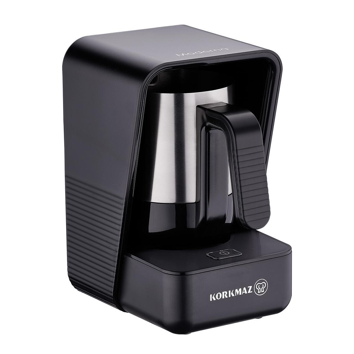 Korkmaz Moderna Siyah/Satin Kahve Makinesi