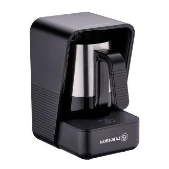 Korkmaz Moderna Siyah/Satin Kahve Makinesi - Thumbnail
