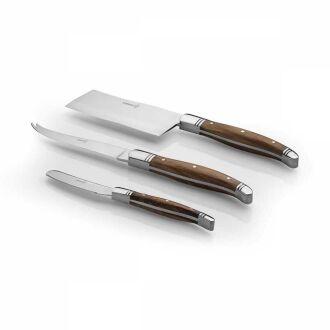Korkmaz Olivia 3' lü Peynir Bıçak Seti - Thumbnail