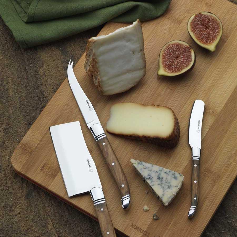 Korkmaz Olivia 3' lü Peynir Bıçak Seti