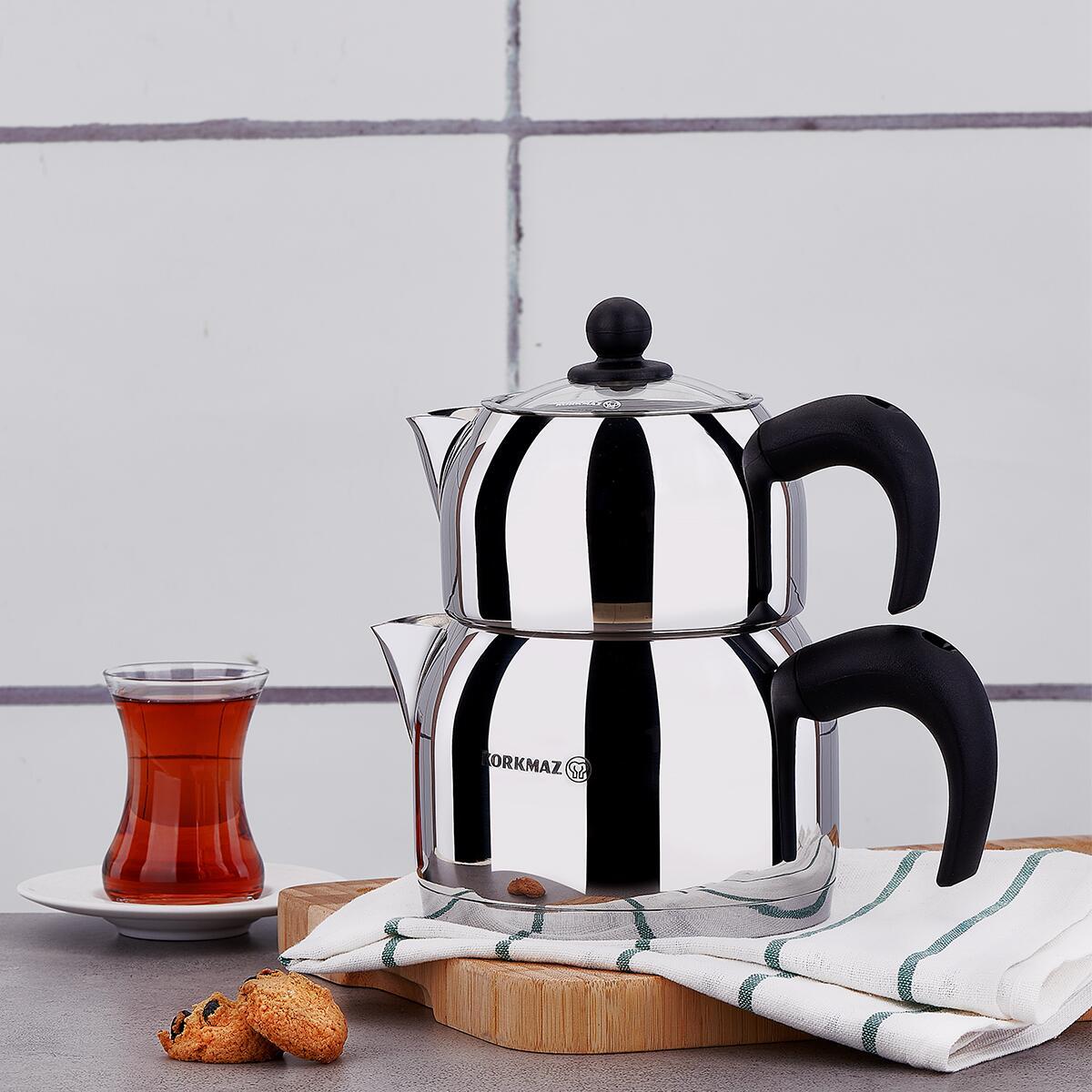 Korkmaz Orbit Midi Çaydanlık Takımı