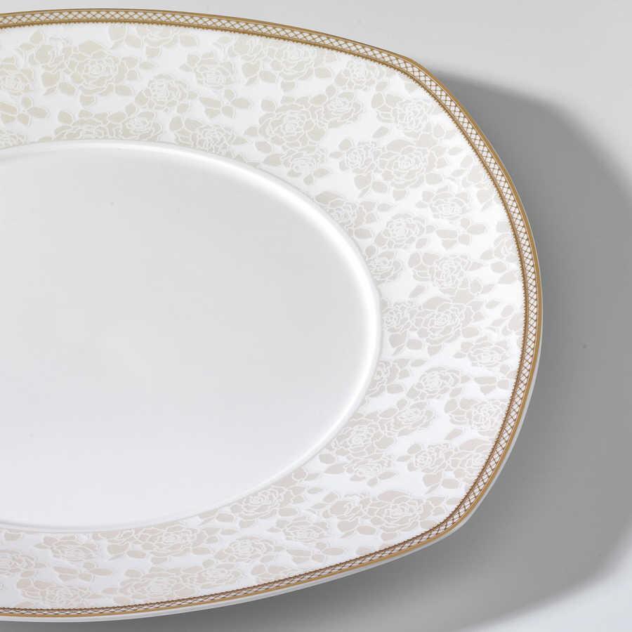 Korkmaz Pearl Star Collection 60 Parça Kare Yemek Takımı