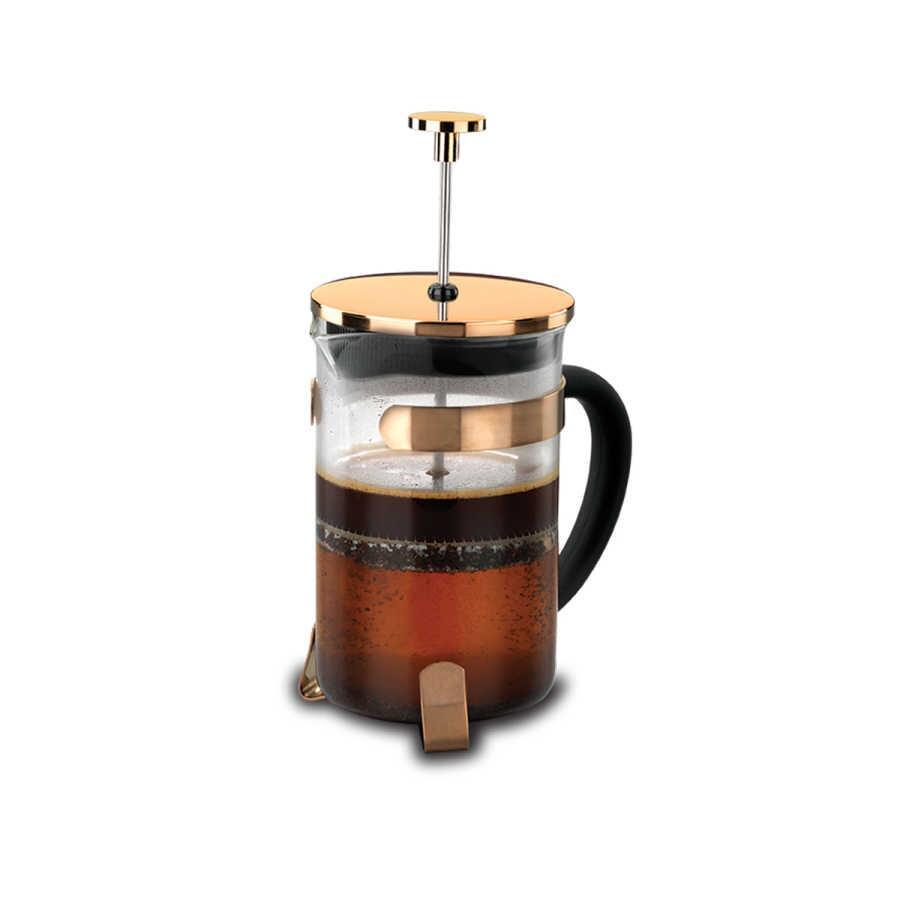 Korkmaz Pressa 600 Ml Rosa Gold Kahve Presi