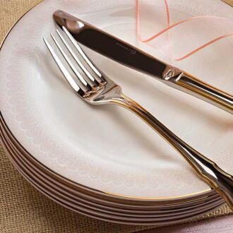 Korkmaz Queen Collection 70 Parça Yuvarlak Yemek Takımı - Thumbnail