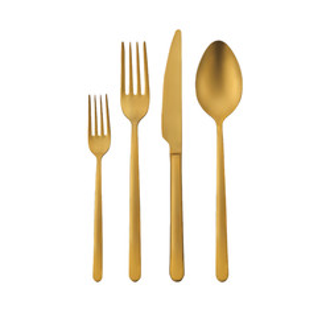Korkmaz Riva Gold 24 Parça Çatal Kaşık Bıçak Seti - Thumbnail