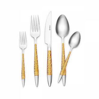 Korkmaz - Korkmaz Sahra Gold 89 Parça Çatal Kaşık Bıçak Seti (1)