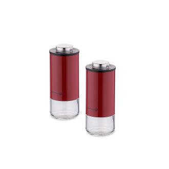 Korkmaz Stora Plus Kırmızı Tuzluk Biberlik Seti - Thumbnail
