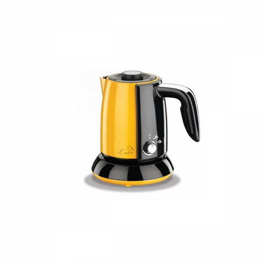 Korkmaz Tek Kahve Sarı/Siyah Elektrikli Cezve Makinesi