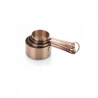 Korkmaz Twisty Rosa Gold 4'lü Ölçü Kabı - Thumbnail