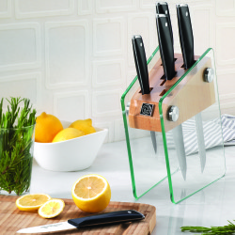 Korkmaz - Korkmaz Vetra Cam Standlı Bıçak Seti (1)